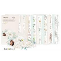 Sentimental Elementy do wycinania - Bloczek papierów do scrapbookingu 15,24x30,5cm - Lemoncraft