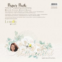 Sentimental - Set of scrapbooking papers 30x30cm - Lemoncraft