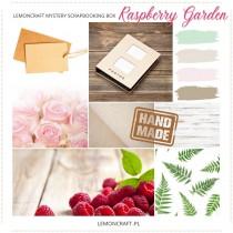 Lemoncraft Scrapbooking Kit Club - June mystery scrapbooking box - Raspberry garden