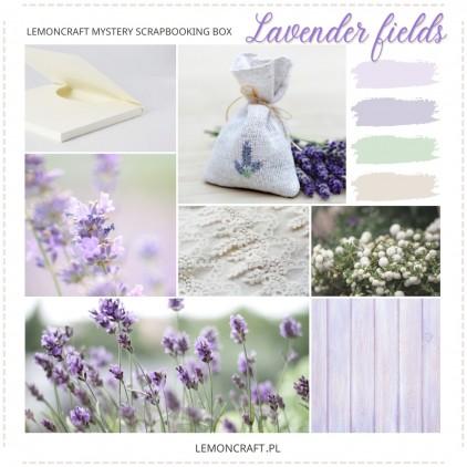 Lemoncraft Scrapbooking Kit Club - September mystery scrapbooking box - Lavender Fields
