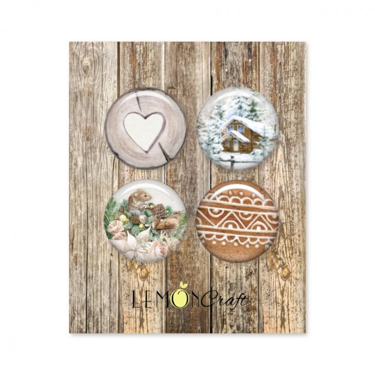 Natural Christmas - Buttons / badge - Lemoncraft