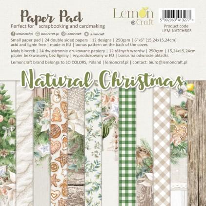 Natural Christmas - Bloczek papierów do scrapbookingu 15x15cm - Lemoncraft