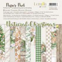 Natural Christmas - Pad scrapbooking papers 15x15cm - Lemoncraft