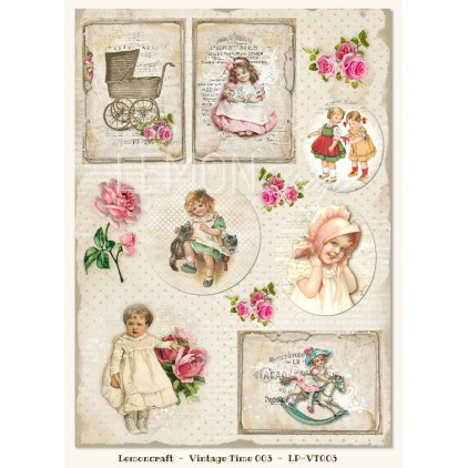 One-sided scrapbooking paper - Vintage Time 003