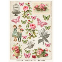 One-sided scrapbooking paper - Vintage Time 004