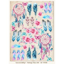 One-sided scrapbooking paper - Vintage Time 010