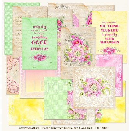 Fresh Summer - Ephemera cards