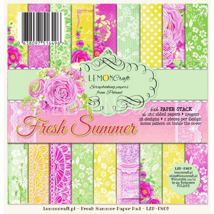 Pad of scrapbooking papers - Fresh Summer 6x6