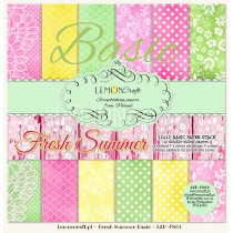 Stack of basic scrapbooking papers - Fresh Summer