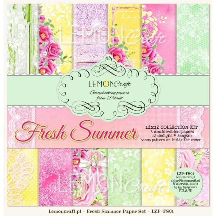 Set of scrapbooking papers - Fresh Summer