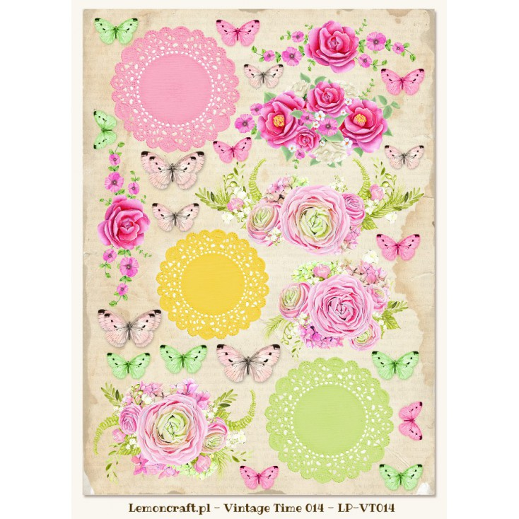 One-sided scrapbooking paper - Vintage Time 014